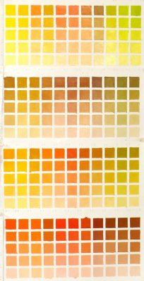 Color chart-yellow and orange