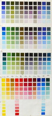 Color Chart Blue-Green