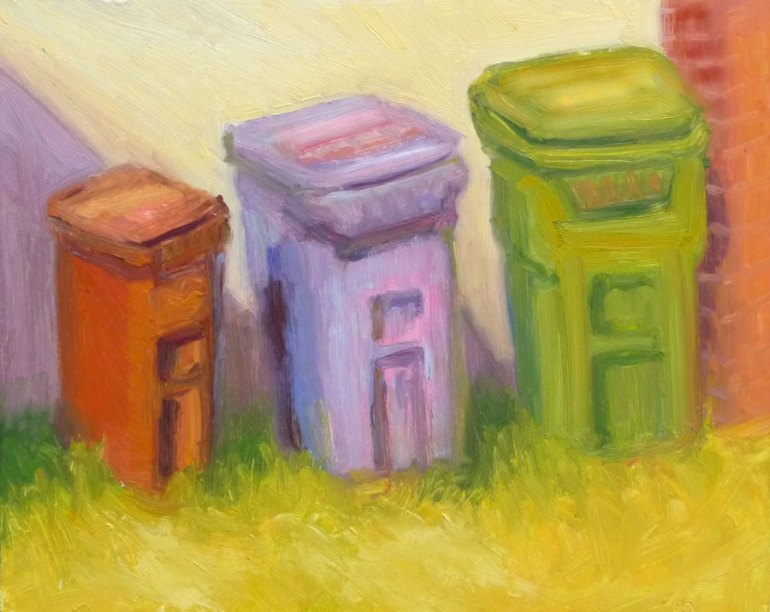 "Garbage in the Sun, 10x8"", oil on panel (click image to enlarge)"
