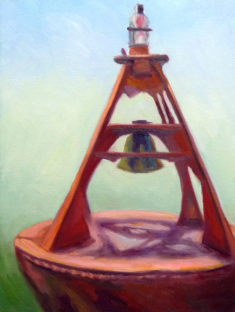 "Old Bell Buoy, Oil on panel, 12x9"" (click image to enlarge)"