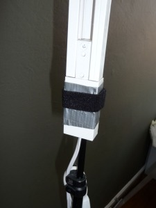 Duct tape/velcro attachment