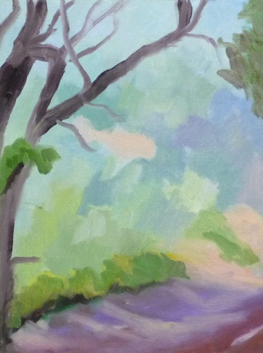 First draft of Tilden Trail painting