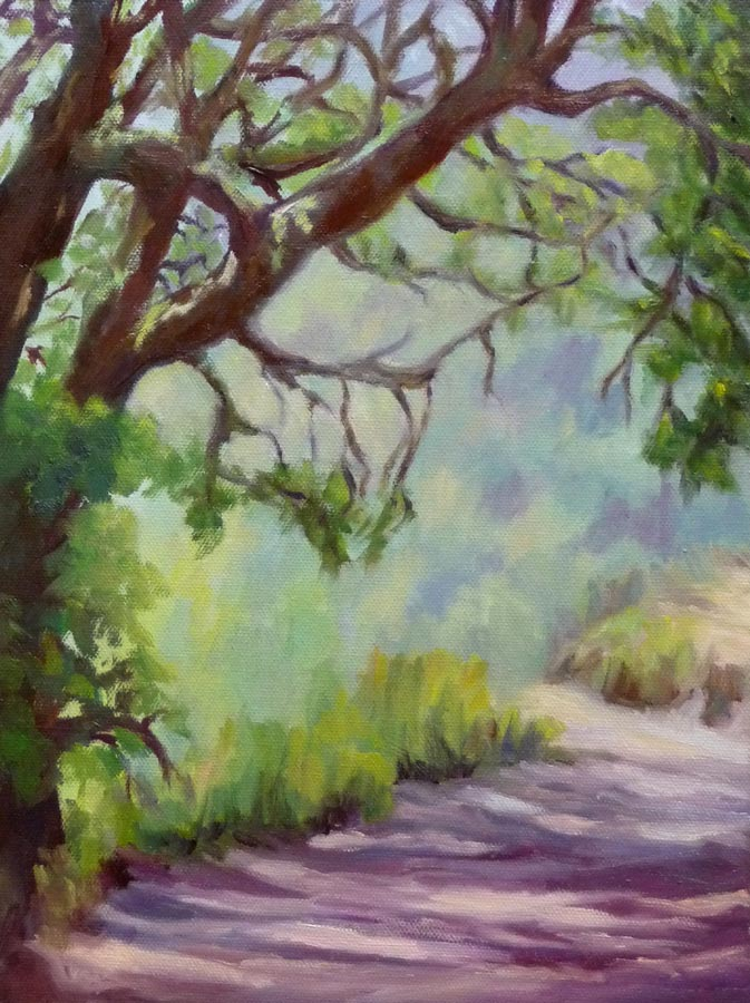 "Tilden Trail, Oil on canvas, 9x12"" (click images to enlarge)"