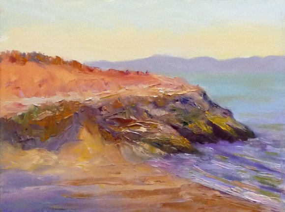 Rodeo Shore, plein air oil on panel, 9x12 in. (click image to enlarge)