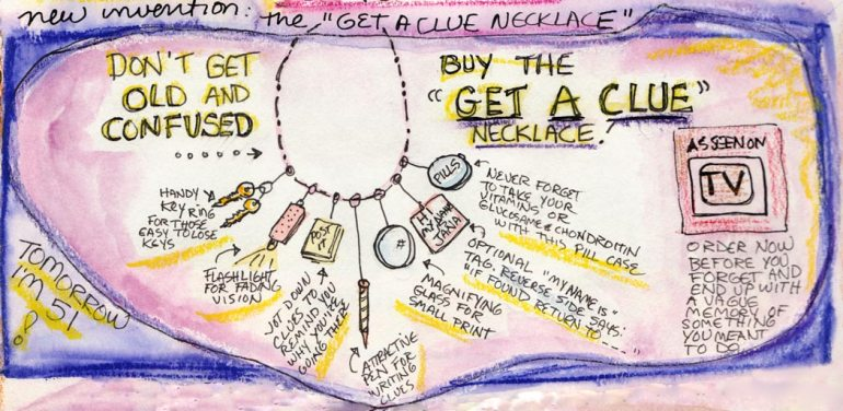 Get a Clue Necklace (detail); click images to enlarge