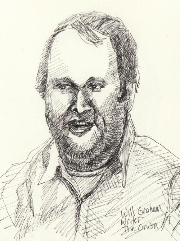 """Will Graham, Ink in sketchbook, 8x6"""""""