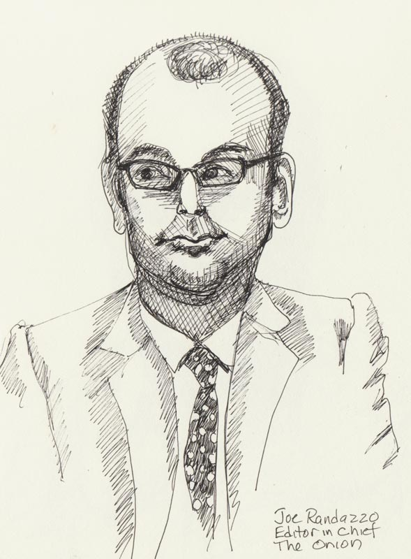 Joe Randazzo, Ink in sketchbook, 8x6""