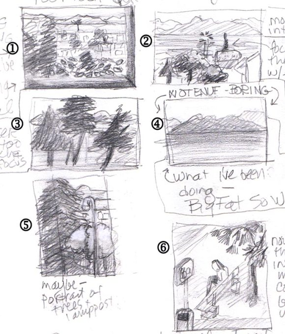 Thumbnails of BART view