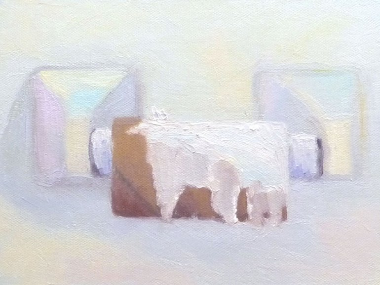 Toilet Roll in oils, 6x8""