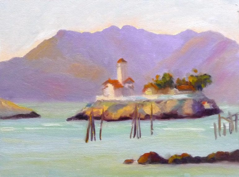 Brothers from Pt. Molate, Oil on canvas panel, 9x12