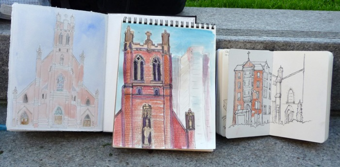 Shirley's, Jana's and Martha's sketches