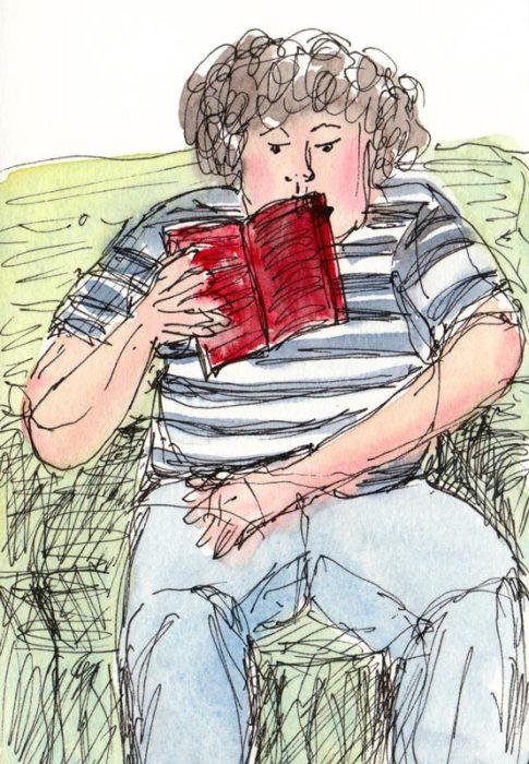 Josh reading
