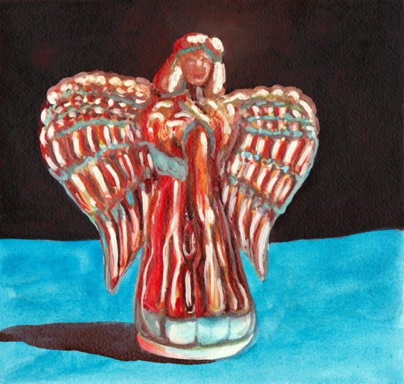 "Guardian Angel, Watermedia, 8x8"""