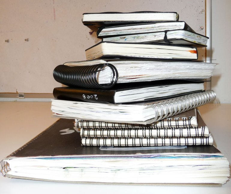 Sketchbooks completed in 2008