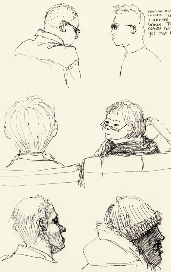 BART riders on the way to Sketchcrawl