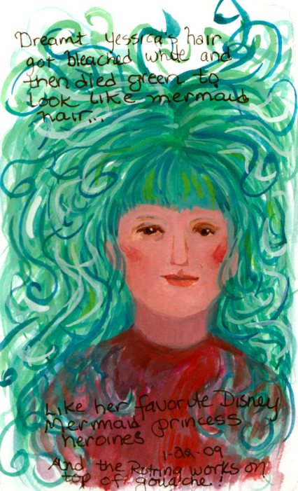 Mermaid Hair, Gouache
