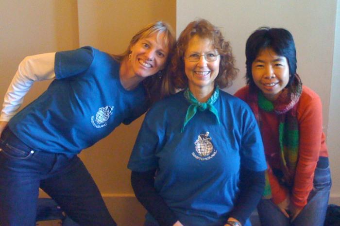Martha, Jana & Yoko at Ferry Building