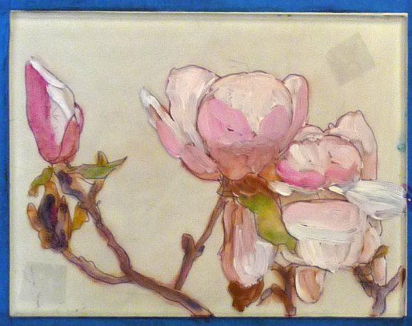 Paint on plexi plate 3