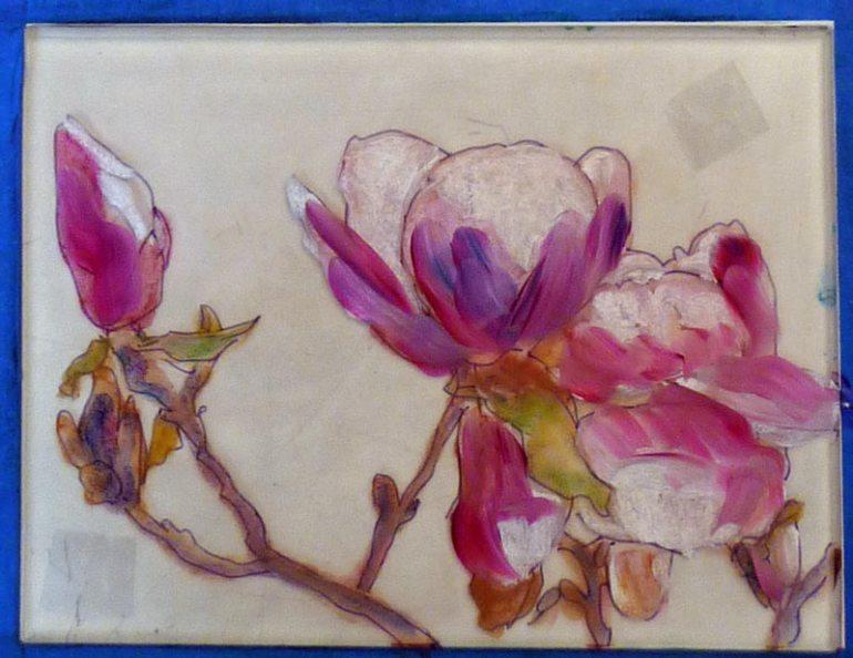 Paint on plexi plate 2