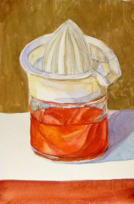 Juicer #2, watercolor on hotpress, 6x4