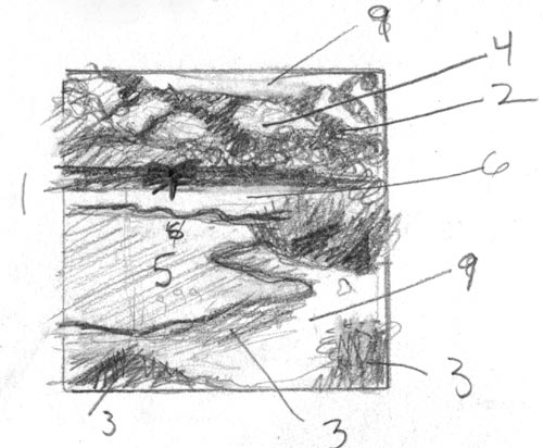 1. Thumbnail, pencil