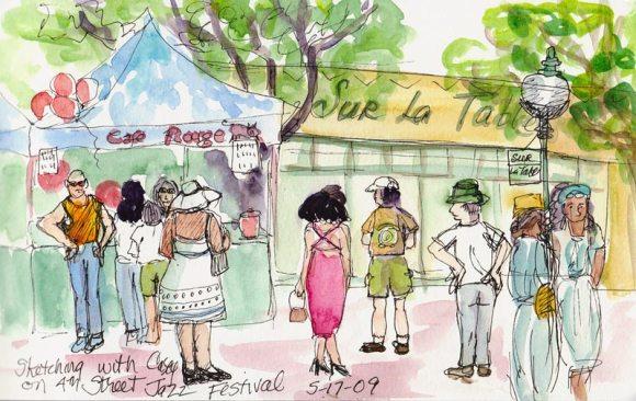 4th Street Jazz Festival- by Jana