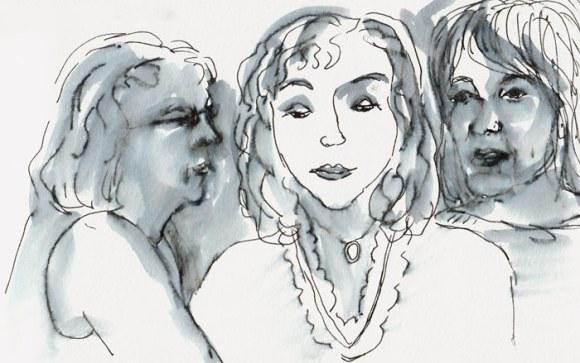 Ink wash sketch; no likeness