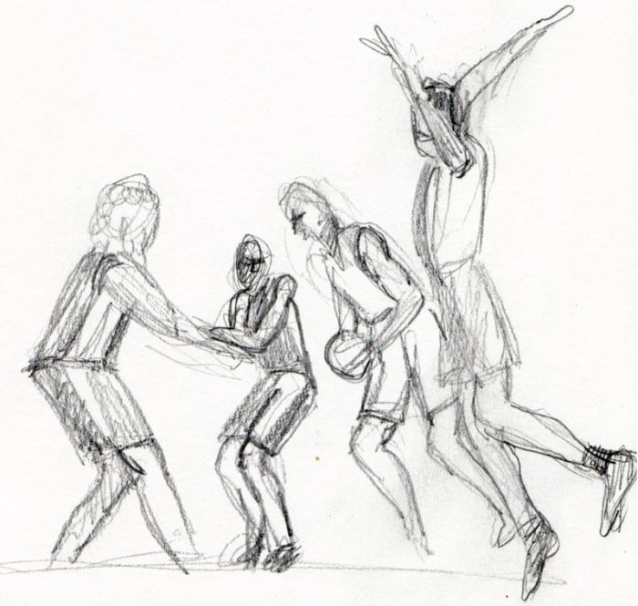 NBA Finals pencil sketch