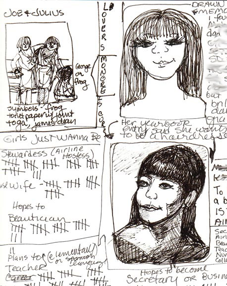 Finding Tina (top from memory, bottom from yearbook)