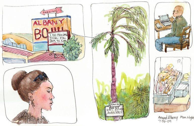 Sketching San Pablo Ave to Peets