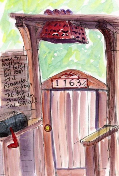Near Berkeley Rose Garden #2,  ink & watercolor