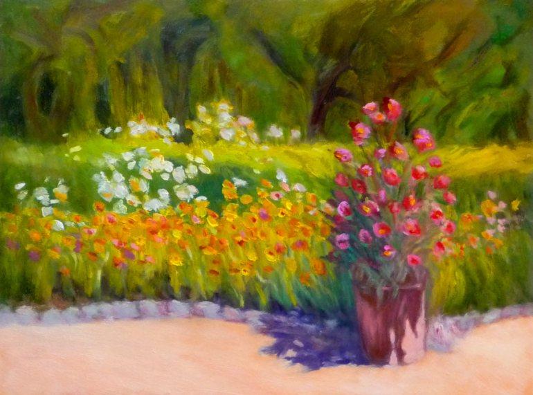 """Blake Gardens Revised, oil on panel 9x12"""""""