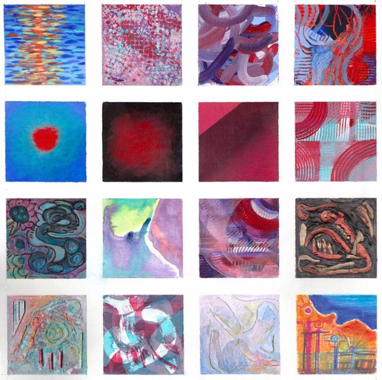 """Acrylic Practice, 24 x 24"""""""