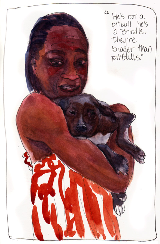 Not a Pitbull? Ink & watercolor