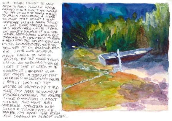 Lake Anza with notes