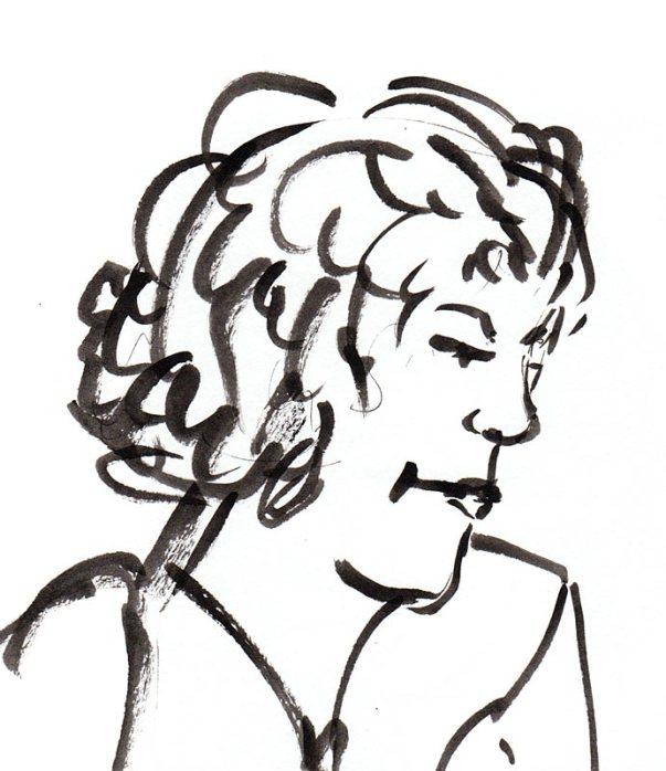 Judith, ink in Niji waterbrush