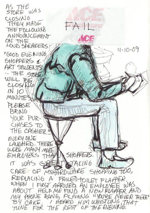 Last Sketch of Cathy Sketching