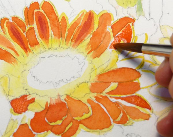 Painting one petal at a time