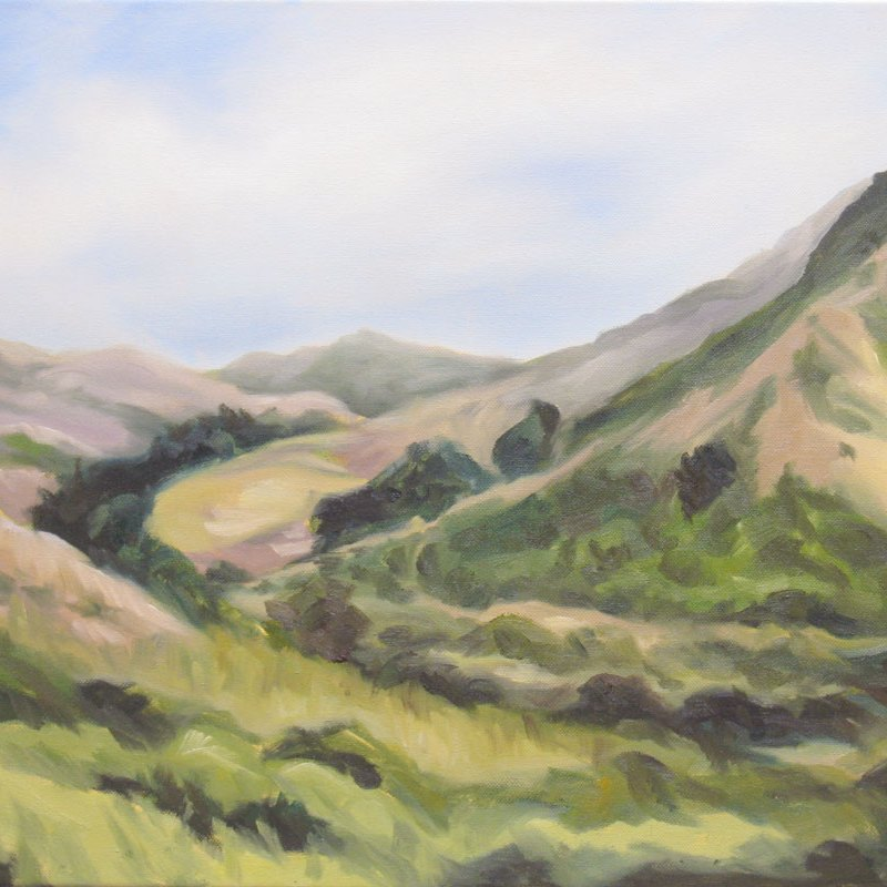 Foggy Day at Pt. Reyes (sold) Point Reyes California oil painting