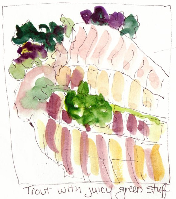 Trout, Kale and Colorful Cauliflower