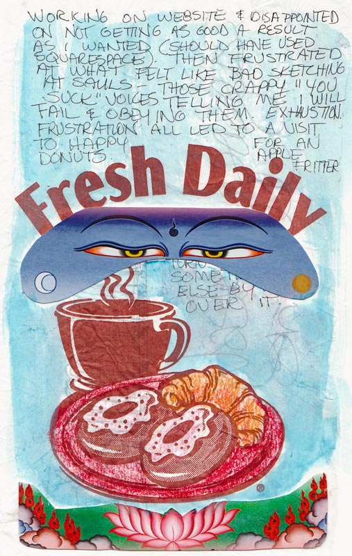 Fresh Daily, collaged page