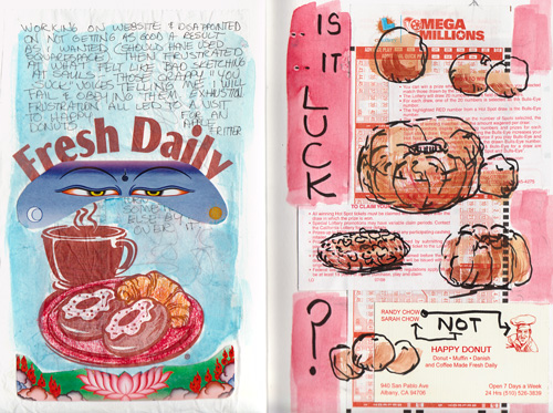 Fresh : Luck, collaged pages