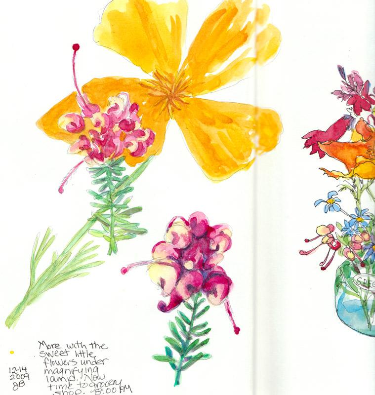Magnified teensy flowers