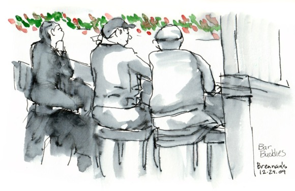 Old Dudes at the Bar, ink