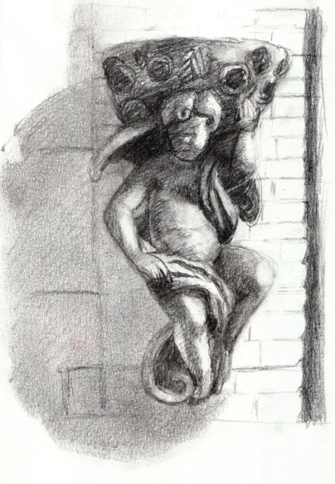 Angel on Harrison, graphite