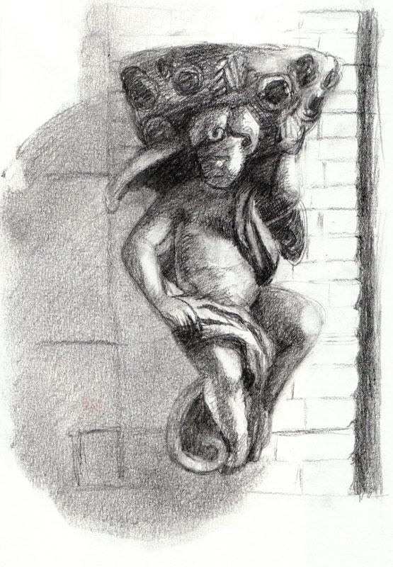 Angel on Harrison, graphite