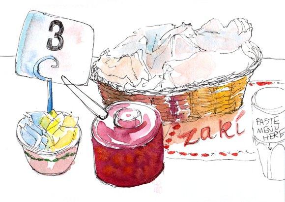 Condiments & Empty Bread Basket