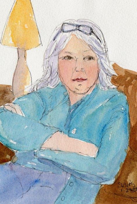 Susie, ink & watercolor