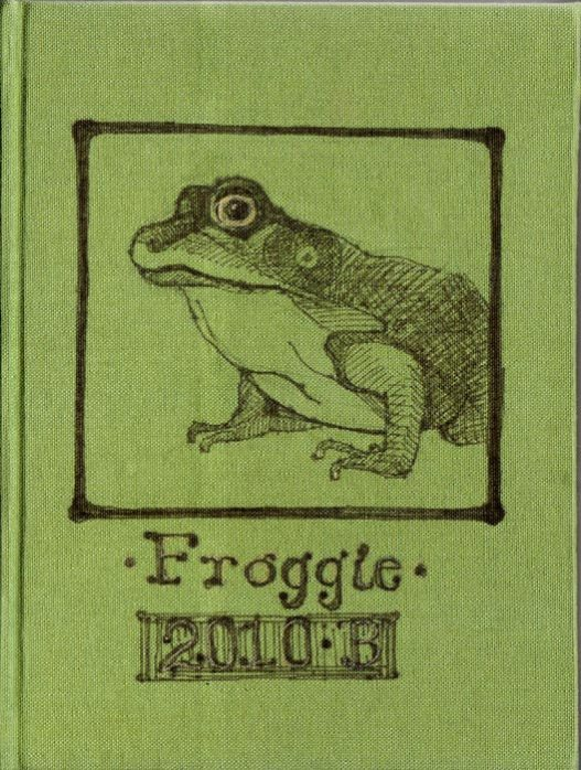 Froggie Journal, india ink on book cloth