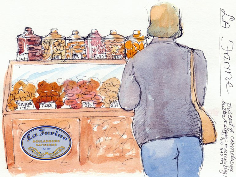 La Farine Bakery, ink & watercolor